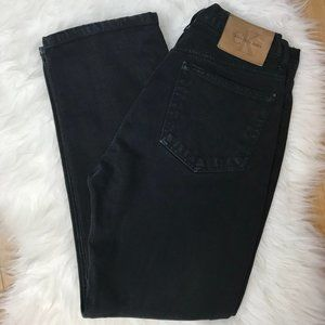 Calvin Klein Black Mom Jeans Denim Plus Size 14